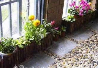 雨花石装饰阳台